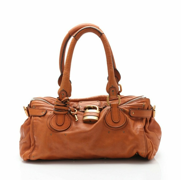 Chloe Handbags - Chloe Paddington Large Luxury Leather Bag - Cognac